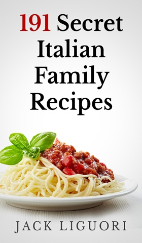 flat ecover for '191secret Italian Family Recipes'